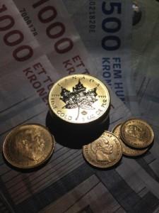 Guld og valuta/pengesedler