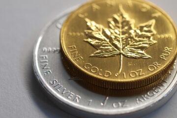 Maple Leaf guld- og sølvmønt